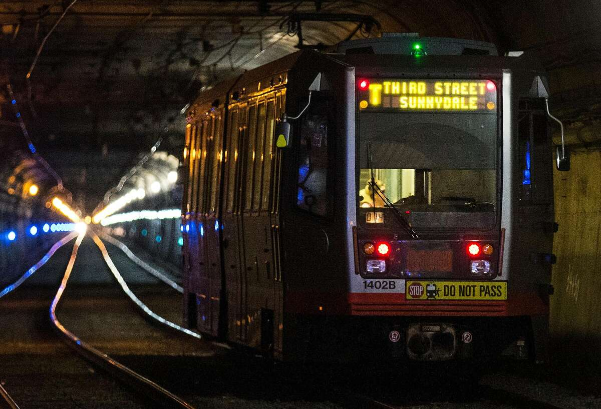 A T-Third train enters the Twin Peaks Tunnel at Forest Hill Station in San Francisco, Calif. Friday, June 22, 2018. The Twin Peaks Tunnel is scheduled to close for two months for repairs starting Monday, June 25th.