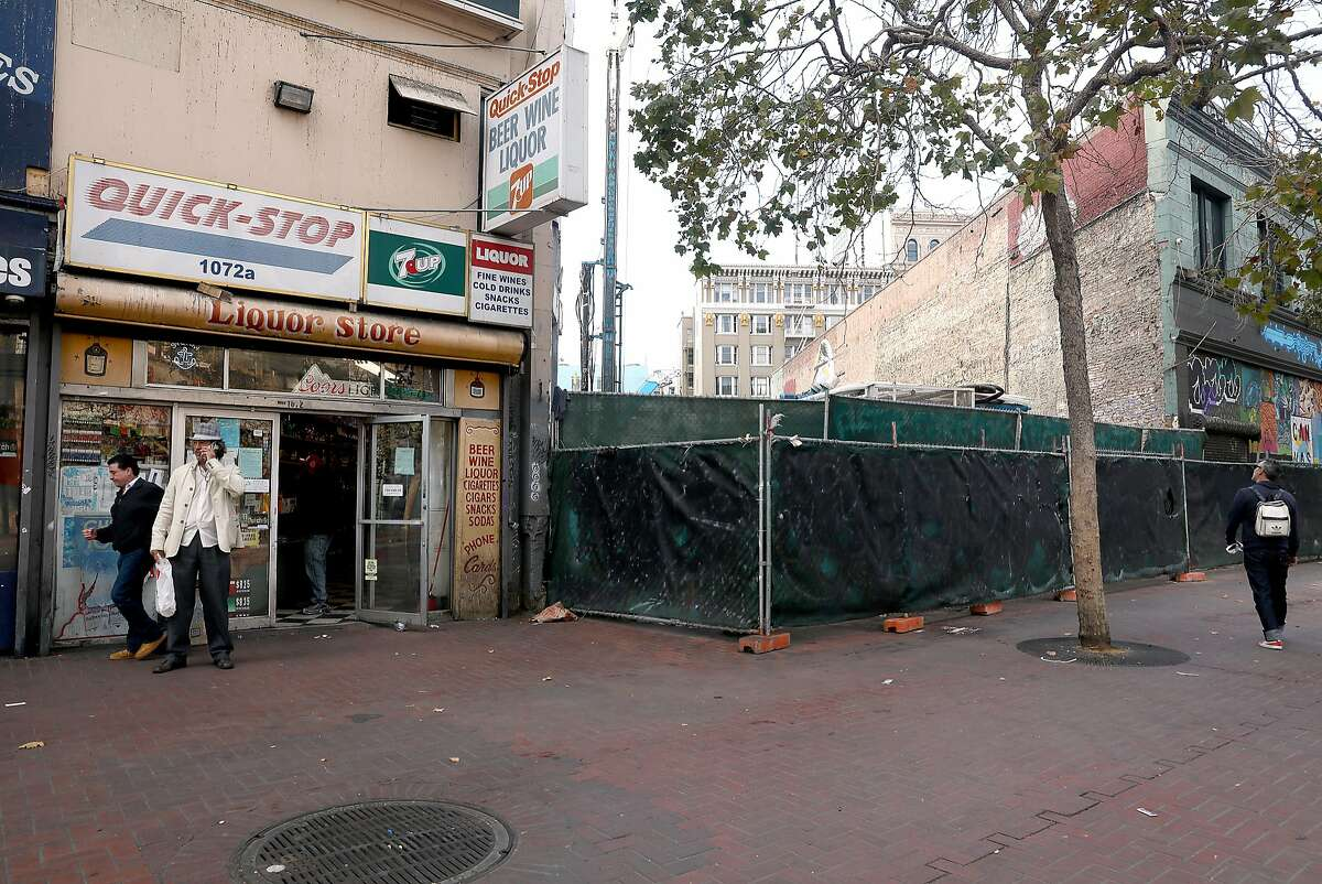 1066 Market St. (empty lot) seen on Tuesday, Aug. 14, 2018 in San Francisco, Calif.