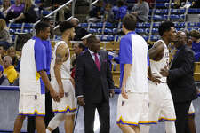David Dumars (middle) will join the Lamar men's basketball coaching staff. (Photo provided by McNeese athletics.)