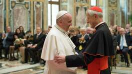 This must be a time of repentance, which requires accountability. Accountability requires resignations, starting with Cardinal Donald Wuerl (right, with Pope Francis in 2015).