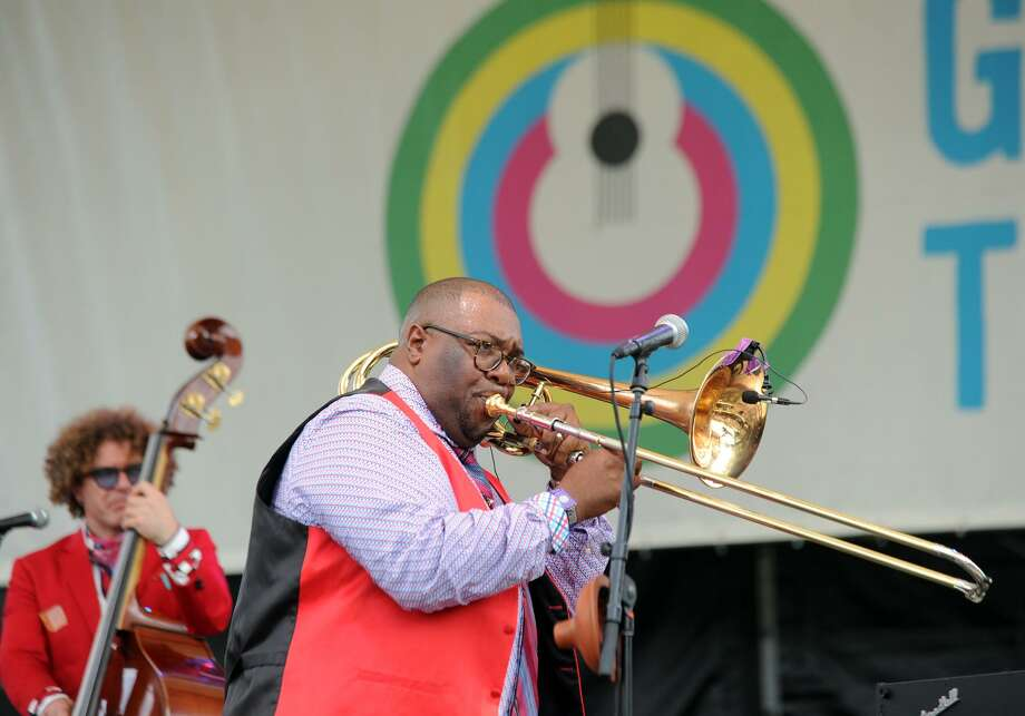 The Preservation Hall Jazz Band performs during the Greenwich Town Party at Roger Sherman Baldwin Park in Greenwich, Conn., Saturday, May 26, 2018. The annual outdoor concert event and party is in its eighth year and regularly draws more than 8,000 people throughout the day at the waterfront park that overlooks Greenwich Harbor. Photo: Contributed Photo / Contributed Photo / Greenwich Time Freelance