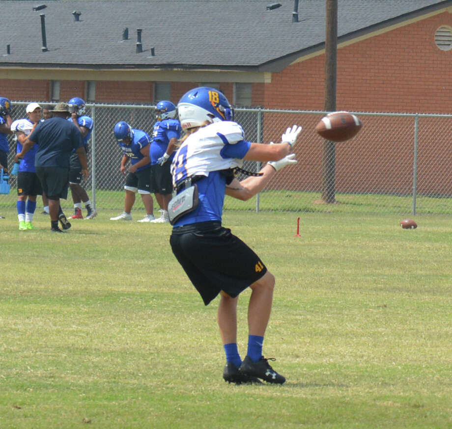 The Wayland Baptist University Pioneers football team began its second week of practices on Monday. The Pioneers open the season against Austin College on Aug. 31 at Greg Sherwood Memorial Stadium in Plainview. Photo: Alexis Cubit/Plainview Herald