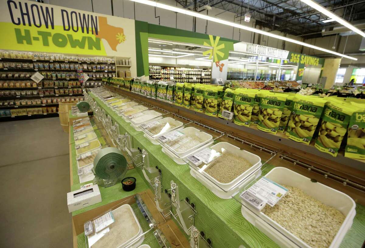 Bulk items at Whole Foods Market 365, 101 N Loop W, are shown Monday, Aug. 20, 2018, in Houston.