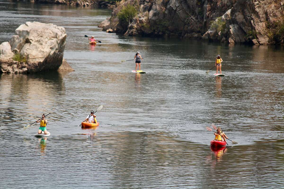 All types of paddlers enjoy a cool escape to Lake Natomas, east of Sacramento.