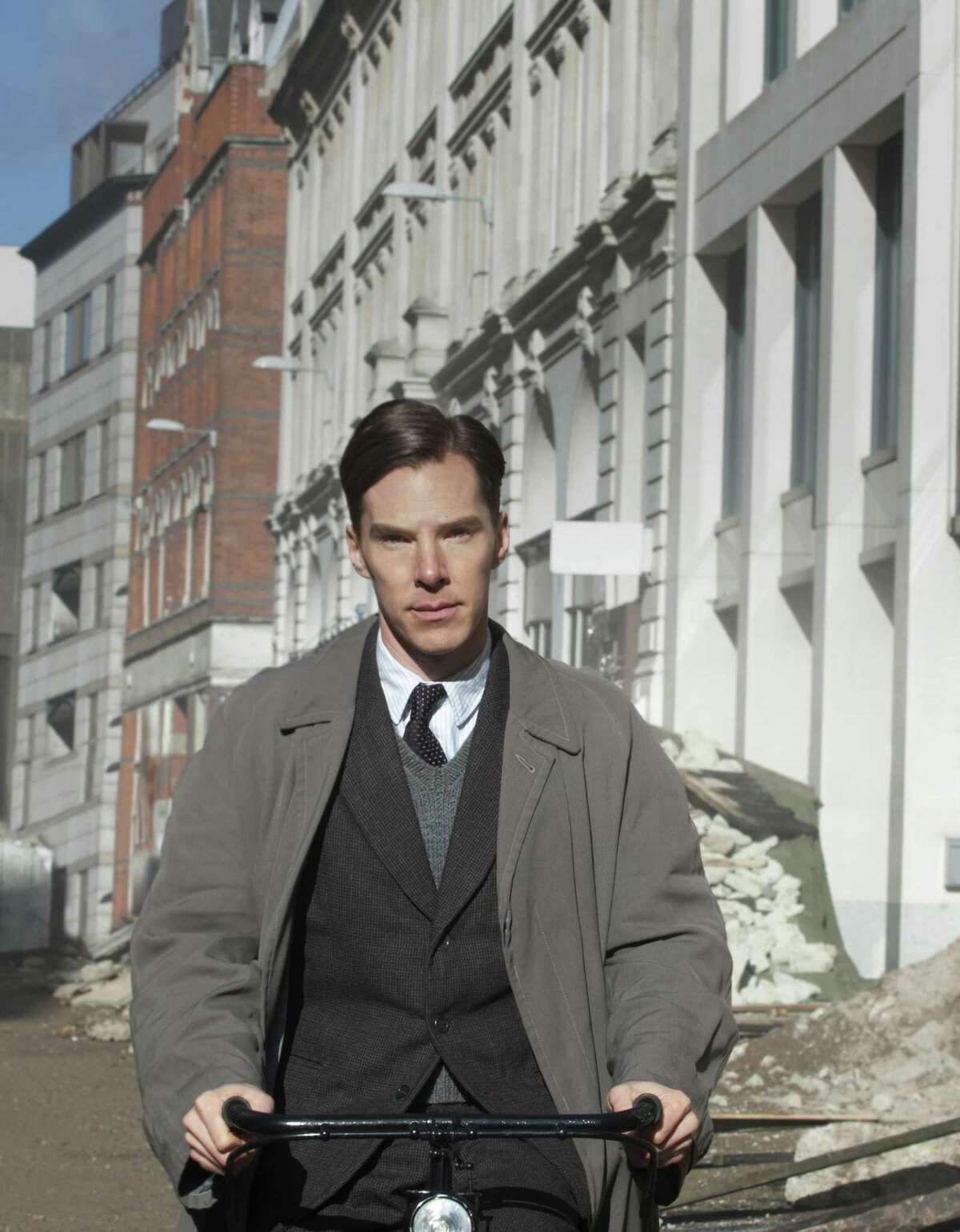 """Benedict Cumberbatch, here in """"The Imitation Game,"""" doesn't seem overly familiar."""