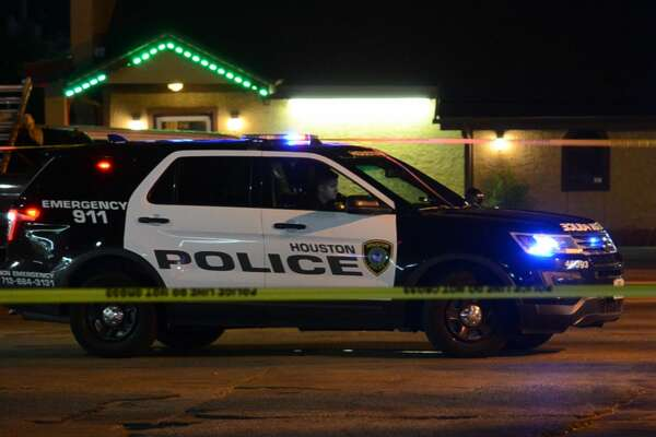 Police investigate a shooting outside Sunny's Food Store in southwest Houston on Monday, Aug. 20, 2018.