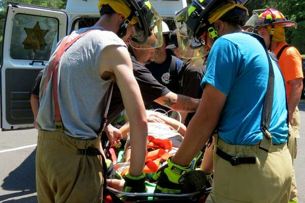A woman was injured at Thacher State Park on Sunday afternoon, July 2, 2017, closing Indian Ladder Trail until further notice. (Tom Heffernan/Special to the Times Union)