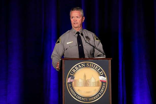 Alameda County Sheriff Gregory Ahern makes opening remarks to kick off the first day of Urban Shield at the Alameda County Fairgrounds in Pleasanton, Ca., on Fri. September 8, 2017.