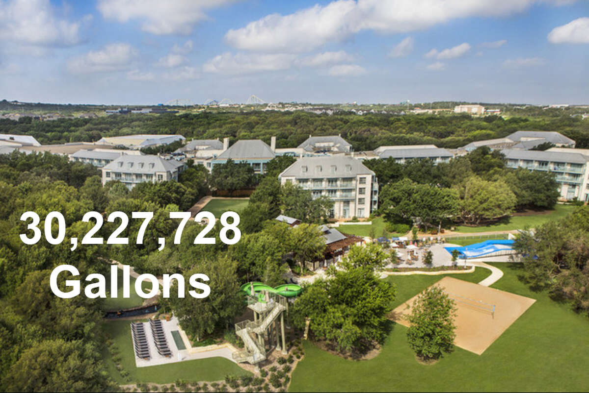 19. JW Marriott SA Hill Country on Resort Parkway used 30,227,728 gallons between Jan. 1-July 31, 2018.