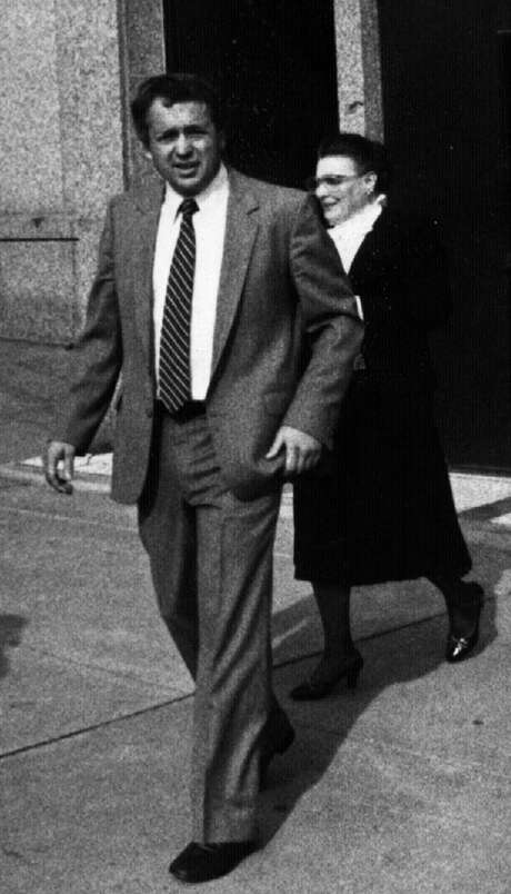 Albany County Democrat insider Polly Noonan with Doug Rutnik in November 1982. (Times Union archive)