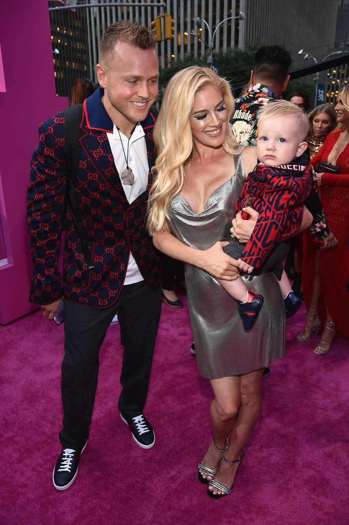 Spencer Pratt, Heidi Pratt and son Gunner Pratt attend the 2018 MTV Video Music Awards at Radio City Music Hall on August 20, 2018 in New York City.