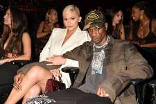Kylie Jenner and Travis Scott attend the 2018 MTV Video Music Awards at Radio City Music Hall on August 20, 2018 in New York City.