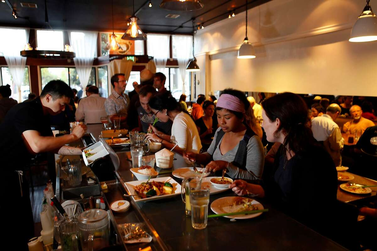 FILE-- Burma Superstar restaurant in Oakland, Calif., on Wednesday, July 14, 2009. The mini-chain is planning a new Mid-Market location in San Francisco's Mint Plaza.