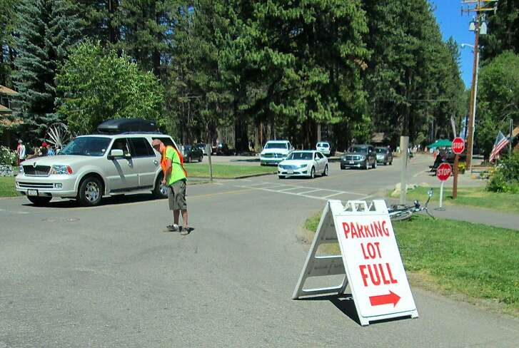 Camp Richardson near South Lake Tahoe fills on Labor Day Weekends, and with no parking spaces left, can be closed to the public for short periods