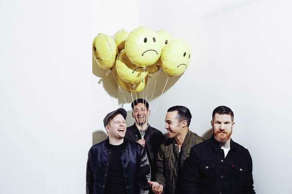 Fall Out Boy, Patrick Stump, left, Joe Trohman, Pete Wentz and Andy Hurley, will perform at Mohegan Sun Arena on Aug. 31.