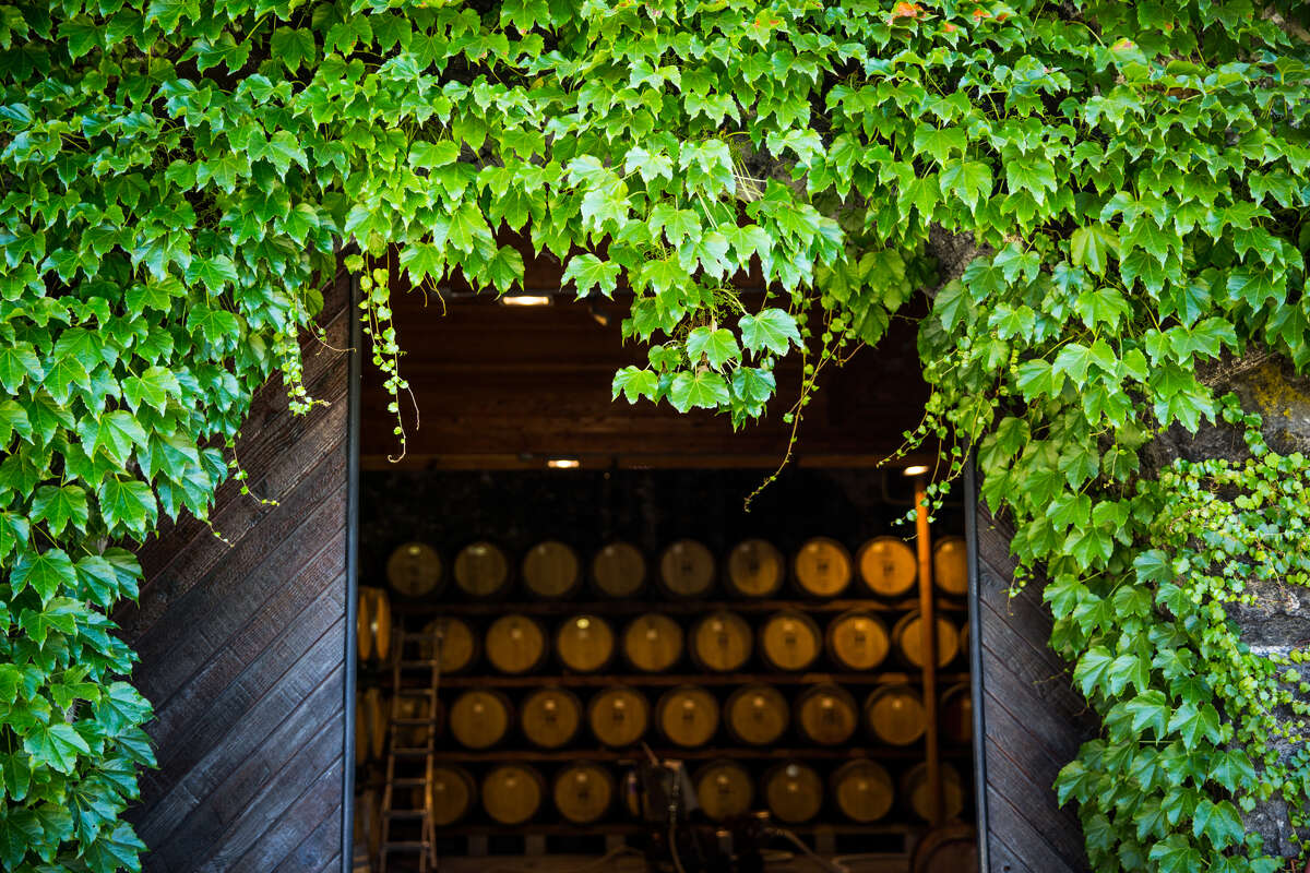 The barrel room at Robert Keenan Winery in St. Helena, California on June 28, 2017.