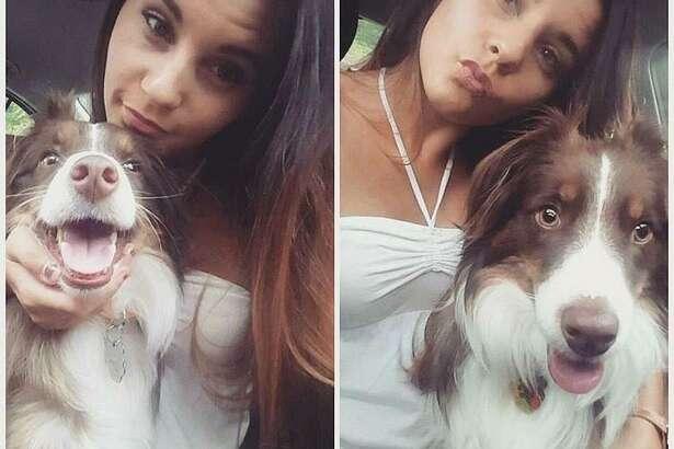 Hamden resident Angela Baldino and her dog Logan.