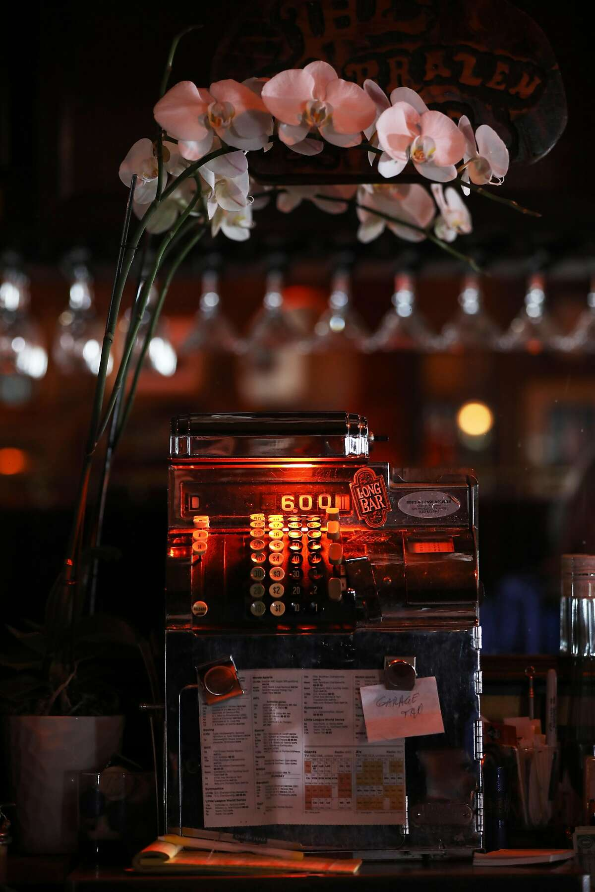 The old cash register at Brazen Head, located at 3166 Buchanan St., in San Francisco, Calif., on Saturday, August 18, 2018.