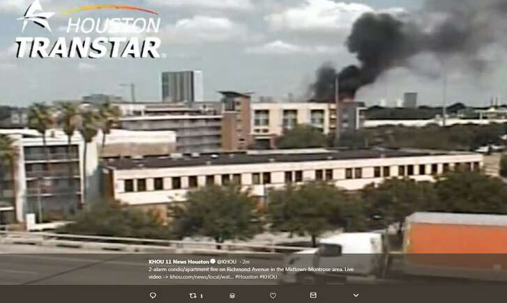 Houstonians share photos of an apartment fire in Midtown on Aug. 21, 2018.