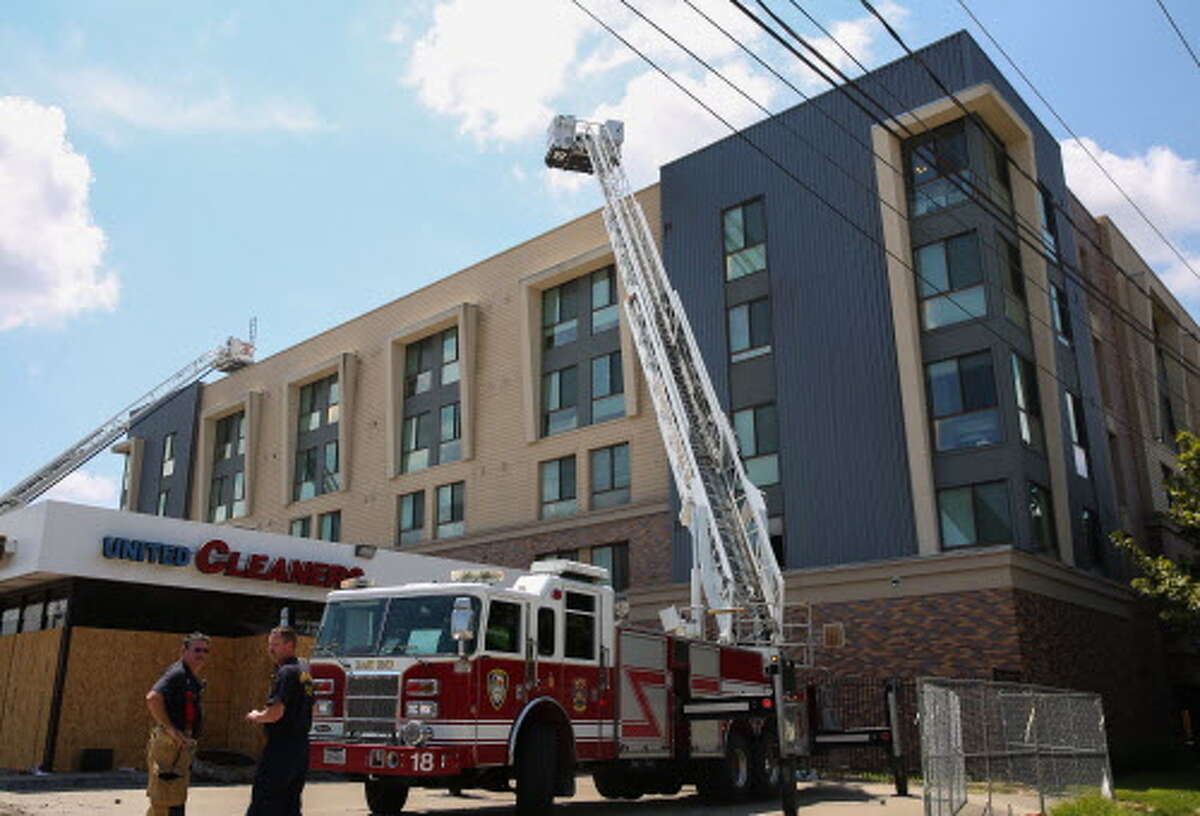 HFD firefighters responded to a two-alarm fire at a veteran housing on the 4000 block of Travis Street , Aug. 21, 2018, in Houston. No one was injured.