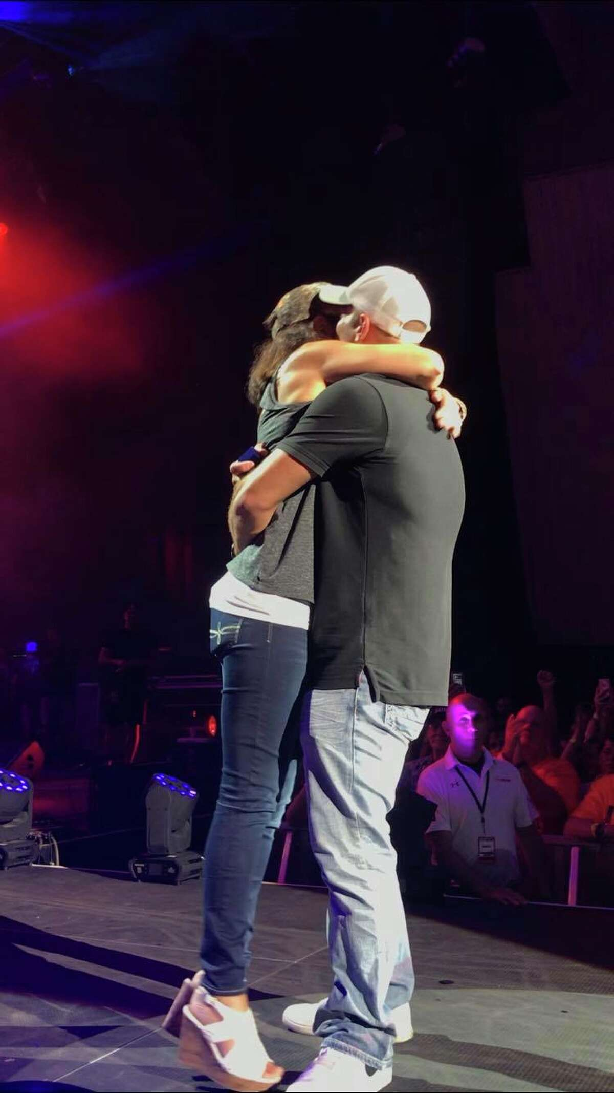 Erin Adams and Will Brickwedel, both of Clifton Park, got engaged at the Luke Bryan concert at SPAC this past Sunday.