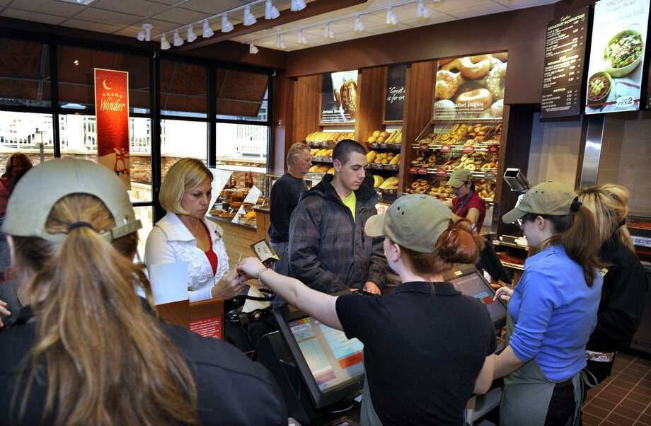 "Panera Bread is among the quick-service chains agreeing in August 2018 to end ""no-poach"" policies under which neighboring franchisees agree not to hire away each other's workers, which critics say contribute to depressing wages. Staff Photographer Carol Kaliff. Photo: File Photo / File Photo / Stamford Advocate File Photo"