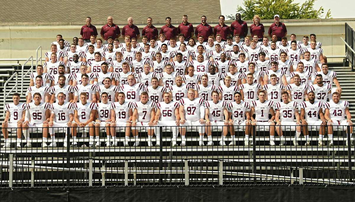 A team photo is taken as the Union College football team holds it's 2018 Media Day at Frank Bailey Field on Tuesday, Aug. 21, 2018 in Schenectady, N.Y. (Lori Van Buren/Times Union)