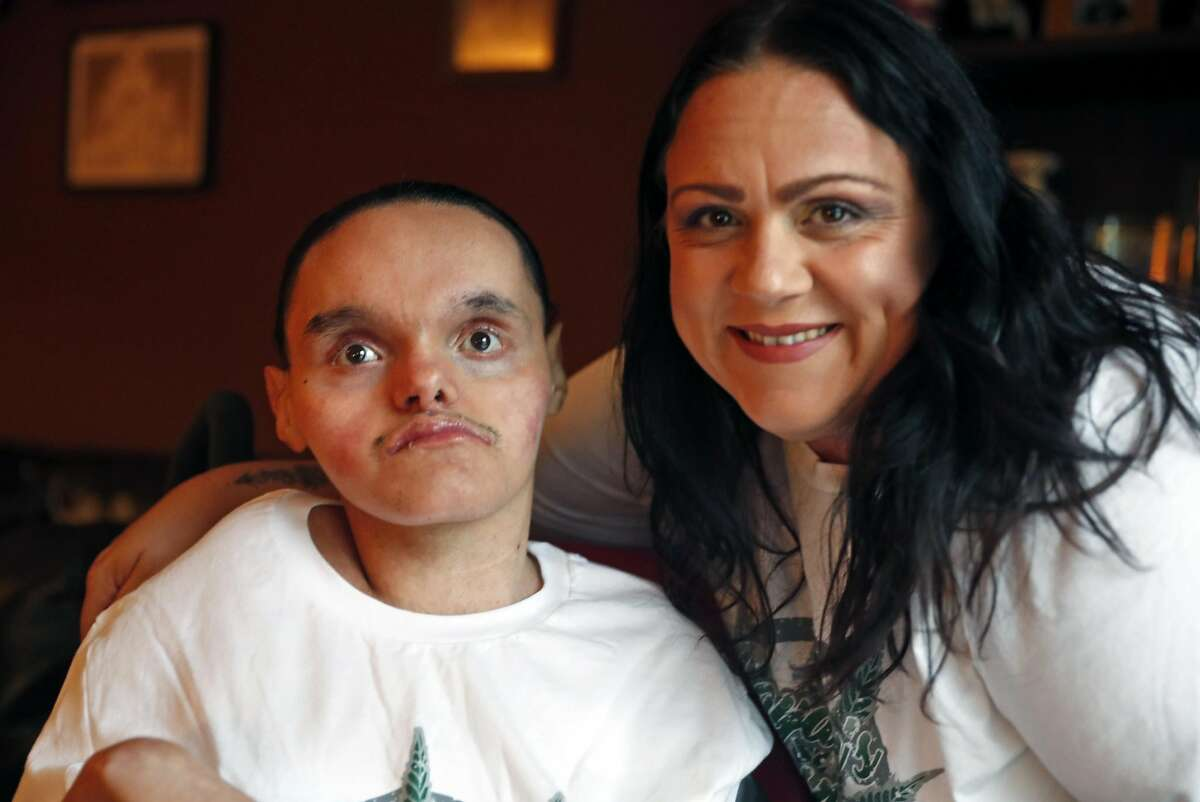 Karina Garcia and her son, JoJo, at their home in San Bruno, Calif. on Monday, August 20, 2018.