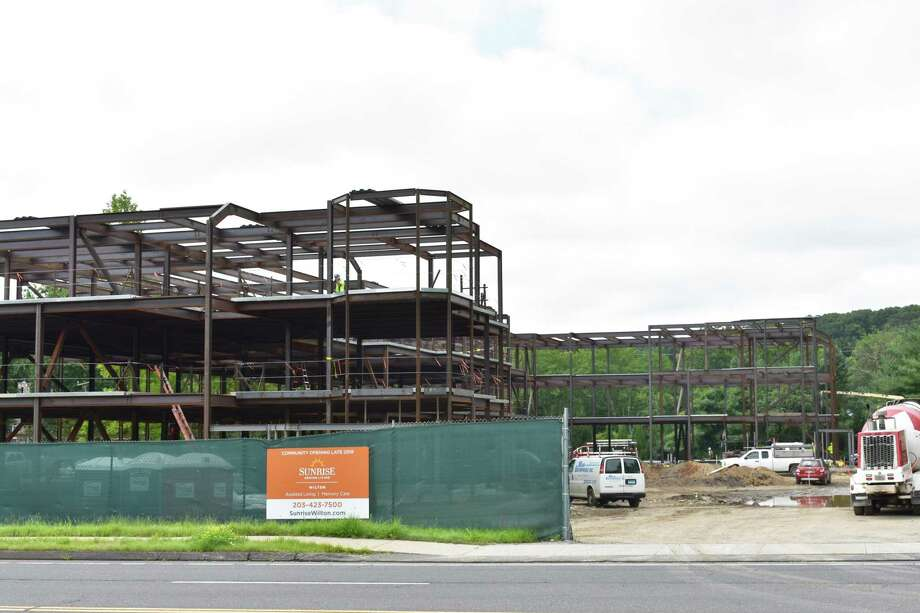 Steel Beams Frame Out What Will Become The Sunrise Senior Living Community In Wilton Conn