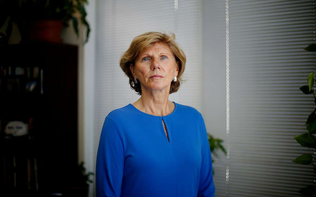 San Jose State athletic director Marie Tuite is photographed in her office on Aug. 10, 2018. Tuite is named as a defendant in women's swimming coach Sage Hopkins' lawsuit.