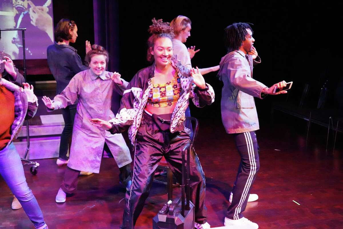 The ensemble performs in a production of Marisela Treviño Orta's