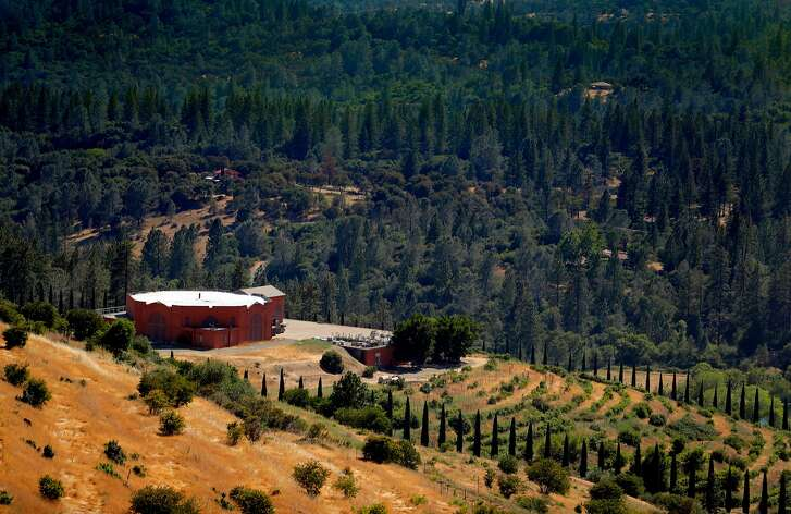 The Renaissance Winery sits above scenic areas of Yuba County at an elevation of about 2000 feet outside Oregon House, Calif., on Thursday, July 5, 2018. The winery, dating back to the early 70s, is owned and run by the Fellowship of Friends, a group formed around alternative religious and philosophical beliefs.