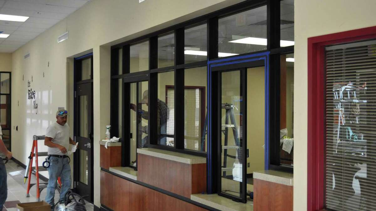 Conroe Independent School District's newest campuses, such as Rice Elementary in Conroe, pictured, as well as Grand Oaks High School and Katherine J. Clark Intermediate, include safety features such as secure vestibules as part of the district's 2015 bond package.