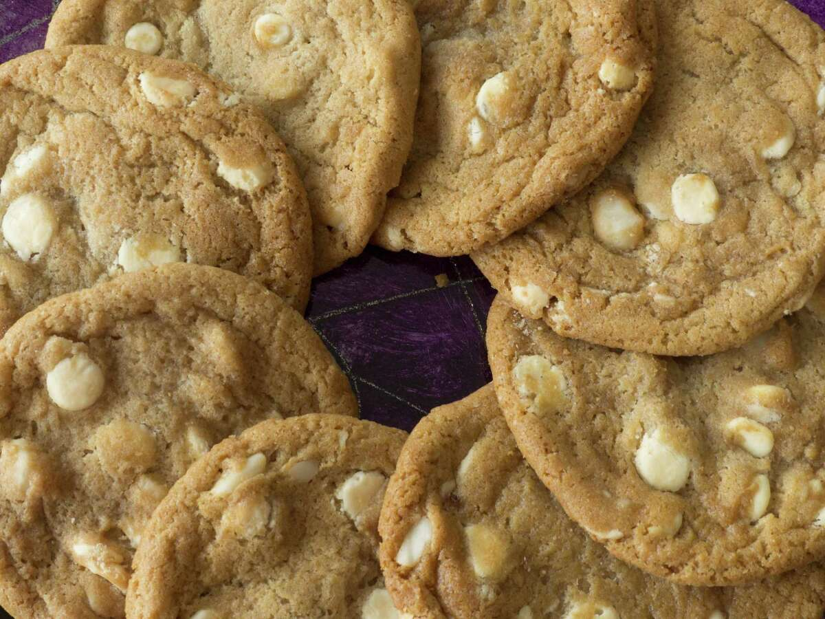 White chocolate macadamia nut cookies at Hearthstone Bakery Cafe.
