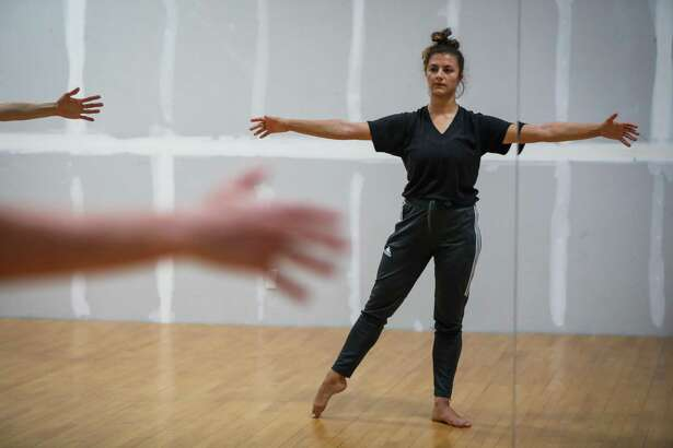 Courtney Hope, 27, in a contemporary dance class at City Dance Annex in San Francisco, California, on Thursday, Aug. 2, 2018.