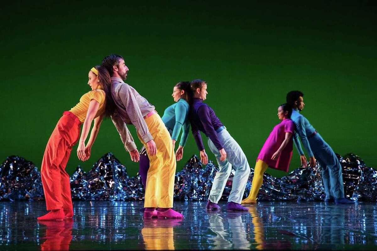 "Members of the Mark Morris Dance Group perform in ""Pepperland."""