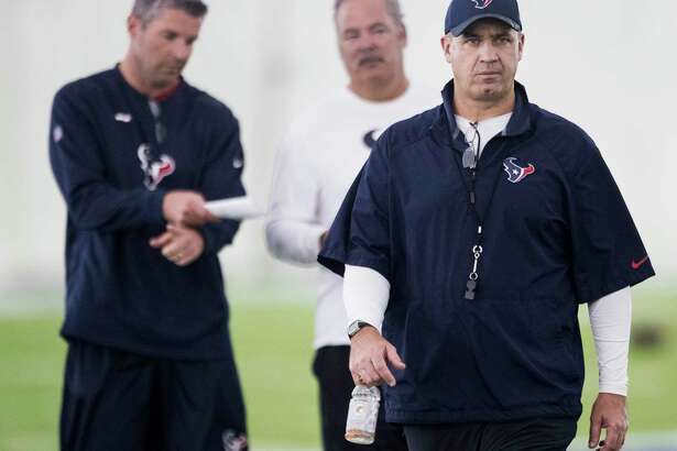 Houston Texans head coach Bill O'Brien walks off the practice field during training camp at the Methodist Training Center on Tuesday, Aug. 21, 2018, in Houston.