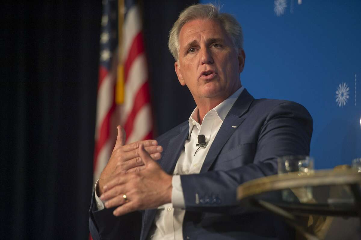 House Majority Leader Kevin McCarthy (R-Bakersfield) answers questions during an event with the Public Policy Institute of California in Sacramento, Calif., on Wednesday, Aug. 15, 2018. (Renee C. Byer/Sacramento Bee/TNS)