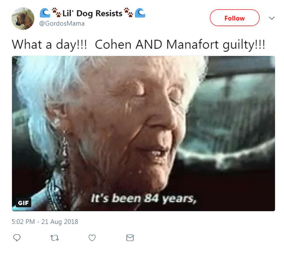 Meme obsessed internet users wasted no time capitalizing on the guilty verdicts for former Trump campaign chairman Paul Manafort and the guilty plea from Michael Cohen, President Donald Trump's former personal lawyer. Photo: @GordosMama/Twitter
