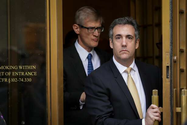 Michael Cohen, President Donald Trump's former personal attorney and fixer, exits federal court, August 21, 2018 in New York City. Cohen reached an agreement with prosecutors, pleading guilty to charges involving bank fraud, tax fraud and campaign finance violations.