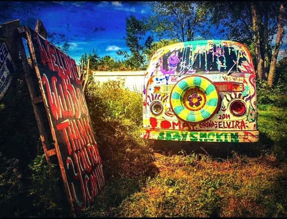 Middletown photographer Reina Dimauro created this digital image of the vintage Beetle on the Wild Bill's Nostalgia lot on Route 3. Photo: Reina Dimauro Photo