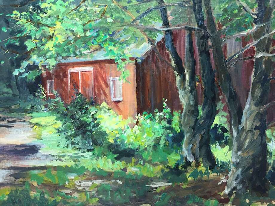 """Sherman Library has announced a show by a group of Great Hollow Artists through Oct. 3. An opening reception will be held Aug. 24 from 6:30 to 8 p.m. at the Jewish Community Center, 9 Route 39, Sherman. Above is """"Great Hollow Barn"""" by Betty Ann Mediros. Photo: Courtesy Of Great Hollow Artists / The News-Times Contributed"""