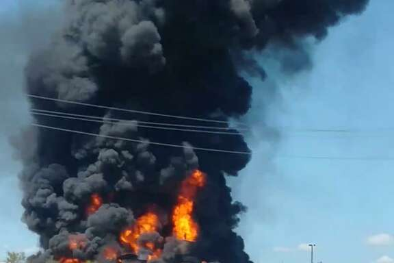 Marcus Posada said he was delivering chemicals to a nearby oil and gas location when he saw the fire at the tank battery.