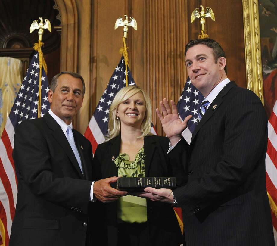 Rep. Duncan Hunter easily won a fifth term in a San Diego-district. Photo: Alex Brandon / Associated Press
