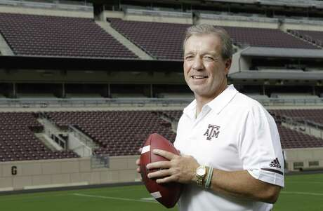 Jimbo Fisher, Texas A&M football coach, is shown at Kyle Field Sunday, Aug. 12, 2018, in College Station.
