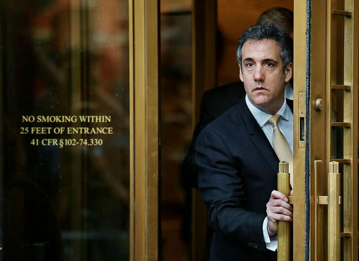 Michael Cohen, President Donald Trumpís personal lawyer and longtime fixer, leaving federal court in New York, Aug. 21, 2018. Cohen pleaded guilty on Tuesday to campaign finance and other charges. He made the extraordinary admission that he paid a pornographic actress ìat the direction of the candidate,î referring to Trump, to secure her silence about an affair she said she had with Trump. (Andres Kudacki/The New York Times)