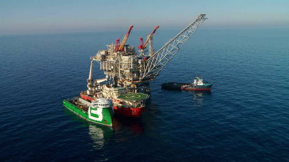 The production platform at Noble Energy's Tamar field off the coast of Israel in the Mediterranean Sea began producing natural gas in 2013.  NEXT: See recent earnings from area energy companies. Photo: Noble Energy