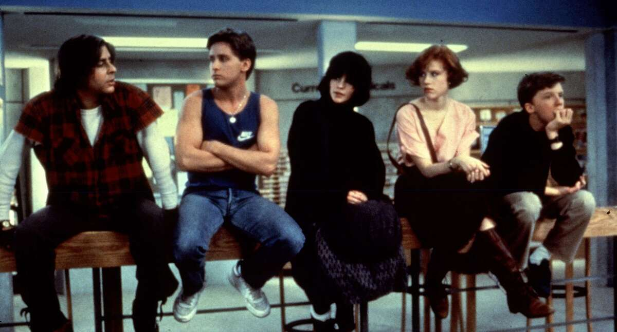 """Judd Nelson (from left), Emilio Estevez, Ally Sheedy, Molly Ringwald and Anthony Michael Hall star in """"The Breakfast Club,"""" part of the Paramount Movies Classics series at the Paramount Theatre in Oakland."""