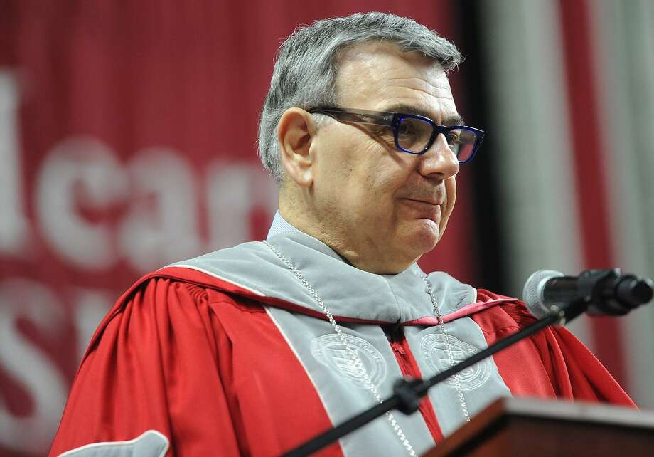 President John J. Petillo. Sacred Heart University's 2017 Commencement ceremony at the Webster Bank Arena in Bridgeport, Conn. on Sunday, May 14, 2017. Photo: Brian A. Pounds / Hearst Connecticut Media / Connecticut Post