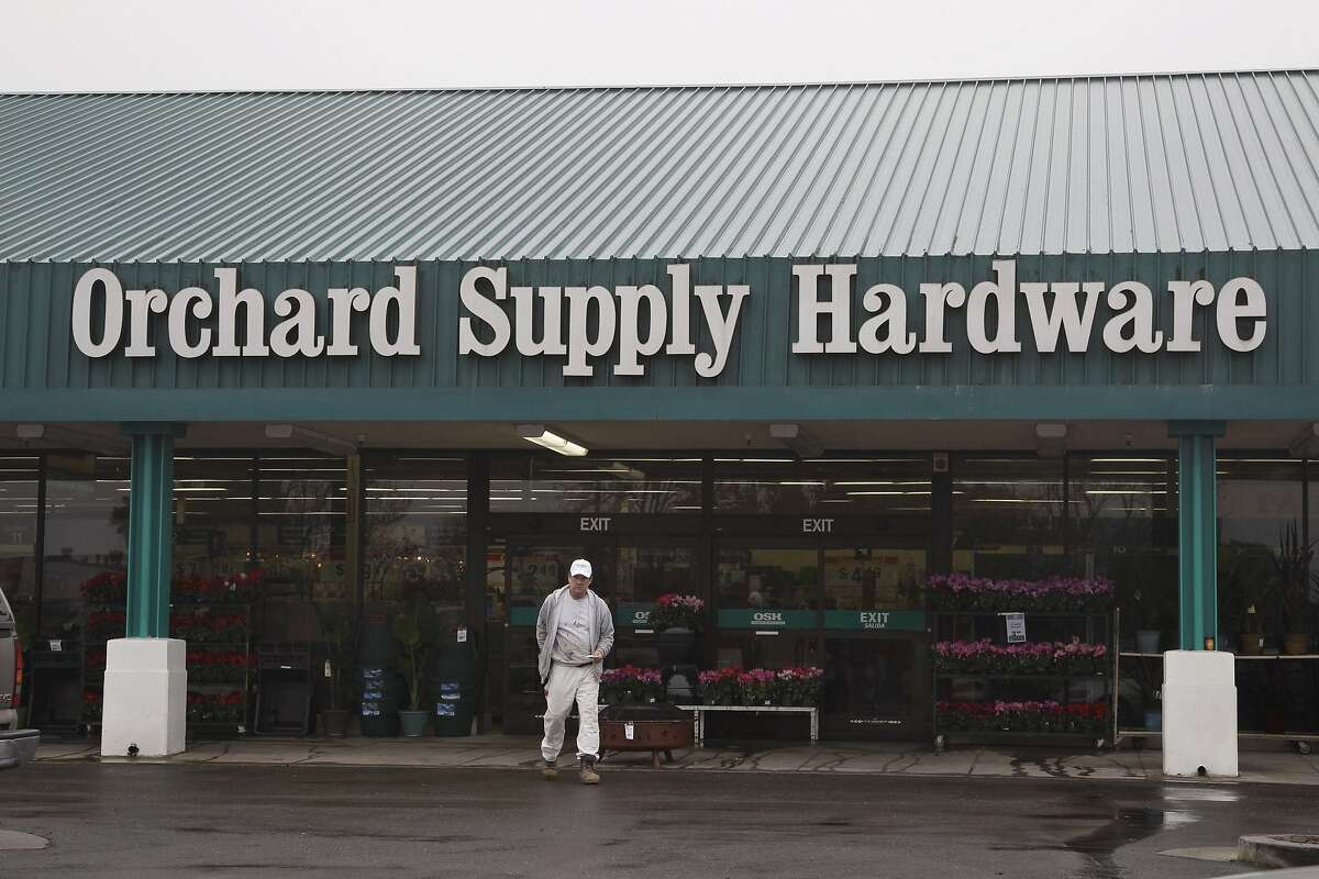 A customer leaves Orchard Supply Hardware store in Mountain View, Calif., in this Jan. 3, 2012 file photo. Orchard Supply filed a voluntary Chapter 11 bankruptcy petition on Monday June 17, 2013, before being pruchased by Lowe's. On Wednesday, Aug. 22, 2018, Lowe's announced it would shutter all 99 of its OSH stores.